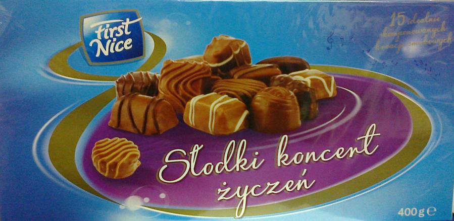 Шоколадные конфеты  First Nice Slodki koncent 400 г, фото 2