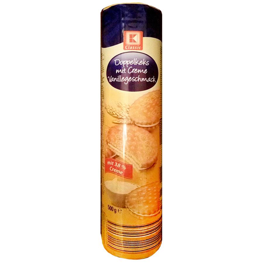 Печенье Classic Sandwich Biscuit с ванильной начинкой 500г