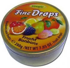 Леденцы Woogie Fine Drops фрукты 200 г