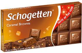 Шоколад Schogetten Caramel Brownie молочный с карамелью 100 г