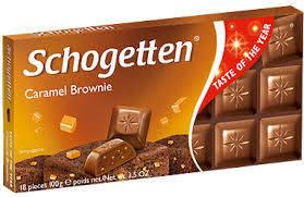 Шоколад Schogetten Caramel Brownie молочный с карамелью 100 г, фото 2