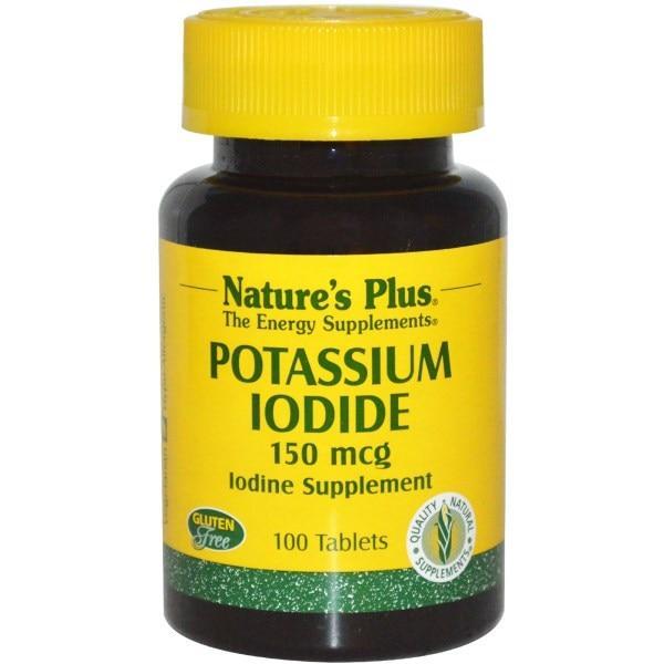 Natures Plus, Калия йодид, 150 мкг, 100 таблеток