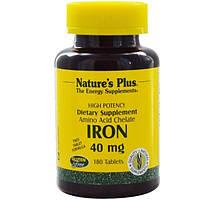 Natures Plus, Железо, 40 мг, 180 таблеток
