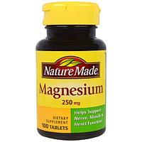 Nature Made, Магний, 250 мг, 100 таблеток