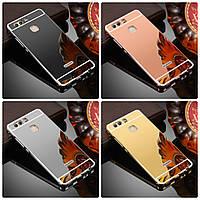Металлический зеркальный чехол бампер для Huawei (Хуавей) P10 (4 цвета в наличии)