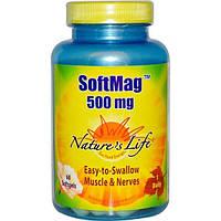 Natures Life, СофтМаг, 500 мг, 60 мягких желатиновых капсул