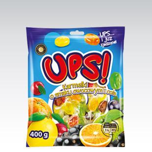 Леденцы UPS o smaku owocowym i cola 400 г