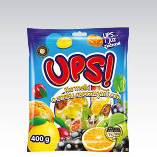 Леденцы UPS o smaku owocowym i cola 400 г, фото 2