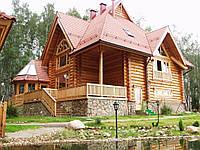 Деревянные дома из оцилиндрованного бревна. Украина, экспорт., фото 1