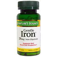 Natures Bounty, Железо мягкого действия, 28 мг, 90 капсул