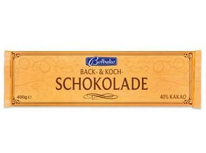 Шоколад Belbake Back&koch кондитерский черный 40% какао 400г