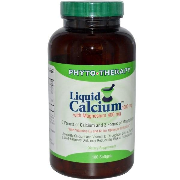Phyto Therapy Inc., Жидкий комплекс кальция и марганца, 1000 мг / 400 мг, 180 гелевых капсул