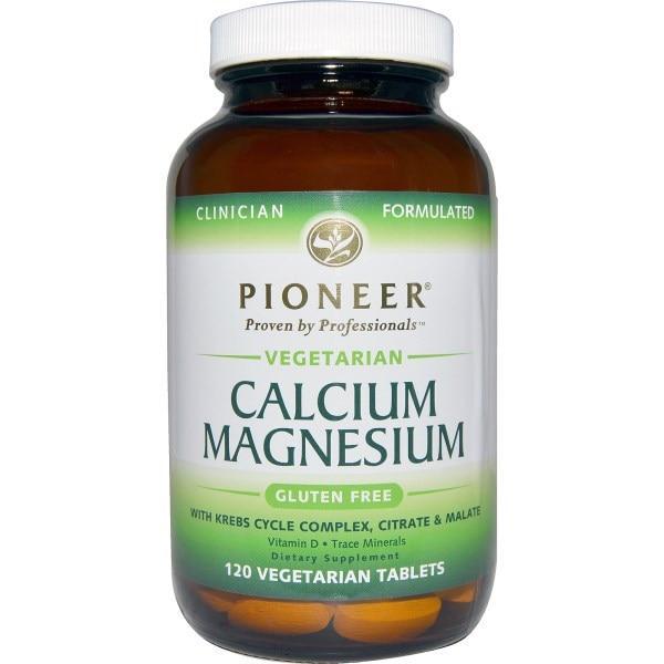 Pioneer Nutritional Formulas, Кальций и магний, 120 вегетерианских таблеток