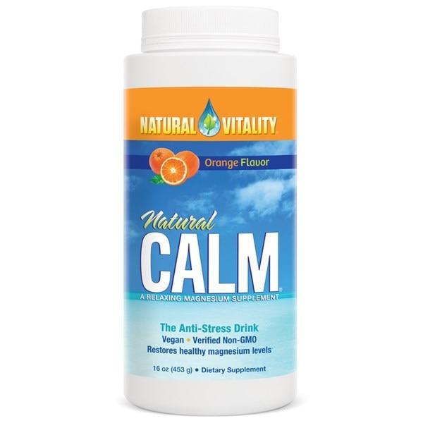 Natural Vitality, Natural Calm, антистрессовый напиток, со вкусом натурального апельсина, 16 унций (453 г)