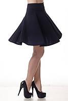 Собственное производство Модная женская юбка - клеш (солнце). Школьная, в университет, офис // 309, черный