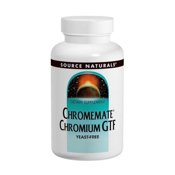 Source Naturals, Взаимодействующий с хромом Аминокислотный хелат хрома, 200 мкг, 240 таблеток