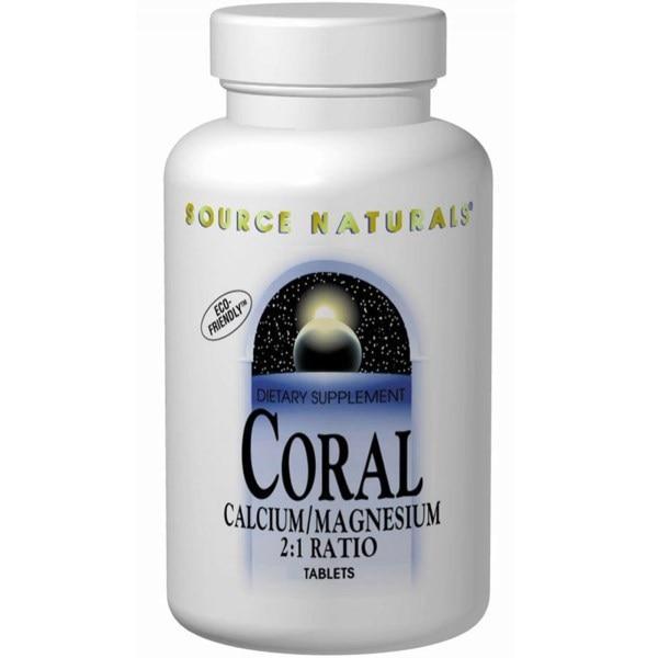Source Naturals, Кальций/магний из кораллов в соотношении 2:1, 90 таблеток
