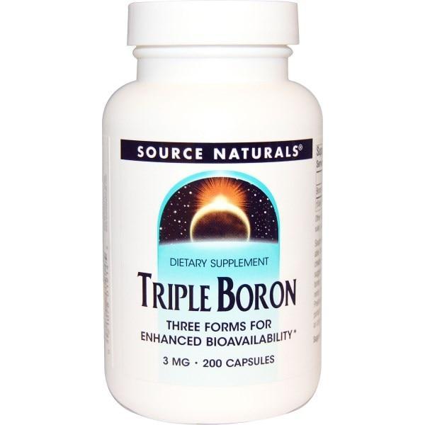 Source Naturals, Тройной бор, 3 мг, 200 капсул