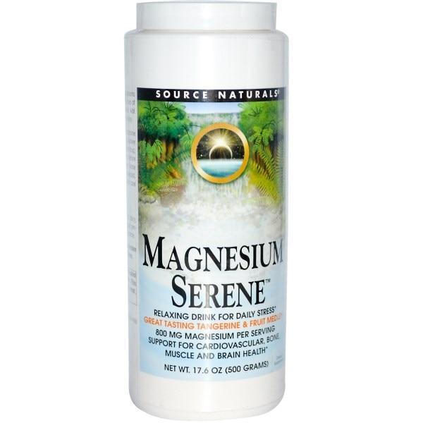 Source Naturals, Magnesium Serene, мандарин и фруктовая смесь, 500 г