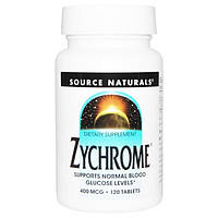Source Naturals, Хром, 400 мкг, 120 таблеток