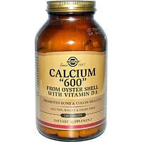 Solgar, Кальций 600 из раковин устриц, с витамином D3, 240 таблеток