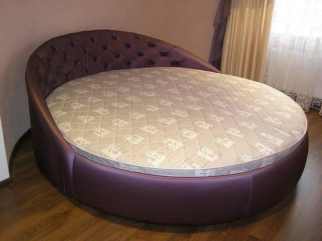 Круглая кровать элитная - KabareMebel