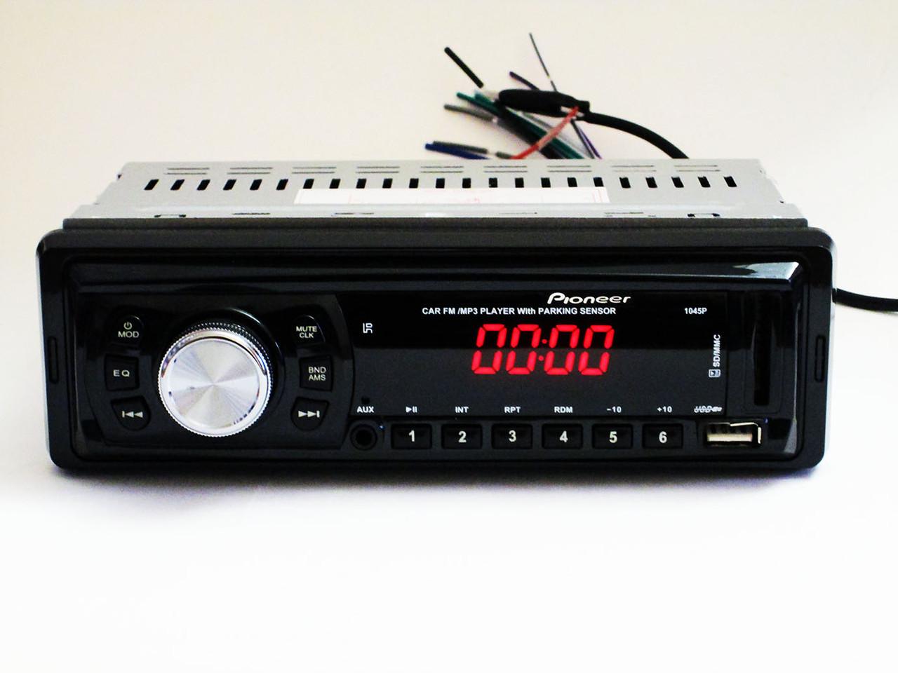 Pioneer 1045P магнитола + парктроник с 4 датчиками