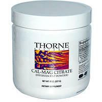 Thorne Research, Цитрат кальция и магния, Шипучий порошкообразный напиток, 8 унций (227 г)