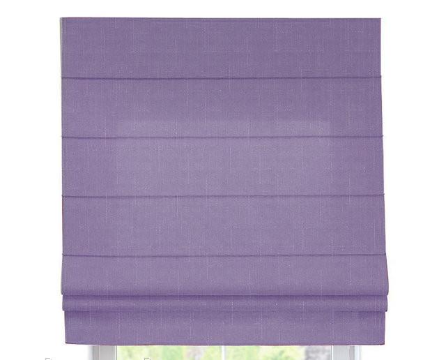 Римская штора с тканью Лен Лиловый ширина 60 см /высота 160 см
