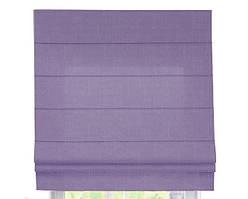 Римская штора с тканью Лен Лиловый ширина 40 см /высота 160 см
