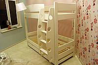Двухярусная кровать Мальвина, массив дуб, ясень, фото 1