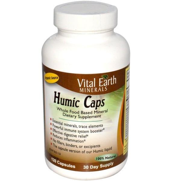 Vital Earth Minerals, Гуминовая кислота в капсулах, 120 капсул
