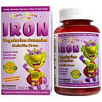 Vitamin Friends, Железосодержащие жевательные конфеты, мишки, клубника, 15 мг, 60 пектиновых мишек