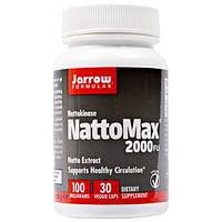 Jarrow Formulas, Наттокиназа NattoMax 2000 FU (фибринолитических единиц), 100 мг, 30 растительных капсул