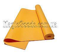 Коврик для йоги (йога мат) 4мм Оранжевый, фото 1