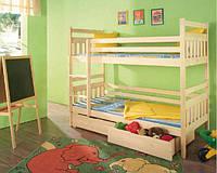 Двухярусная кровать Колобок, массив дуб, ясень