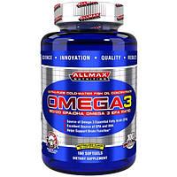 ALLMAX Nutrition, Омега 3, ультрачистый концентрат жира обитающей в холодных водах рыбы, 180 мягких капсул