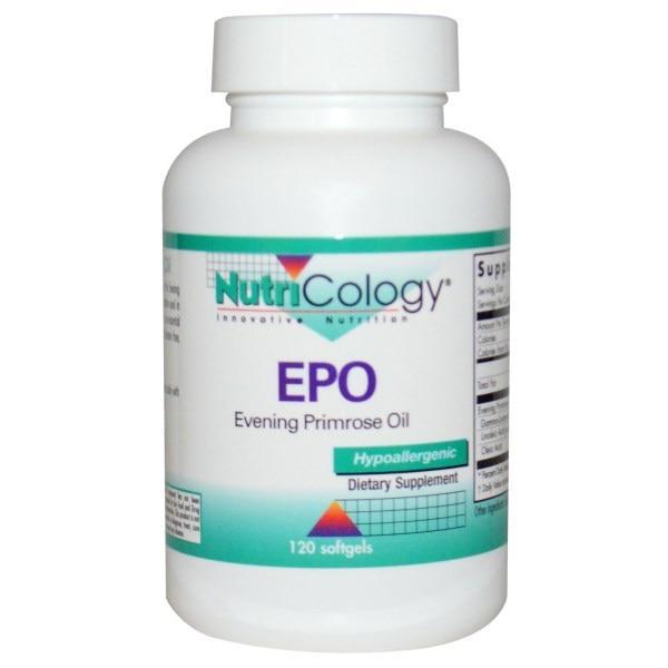 Nutricology, Масло энотеры - примулы вечерней, 120 капсул