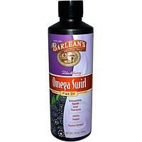 Barleans, Омега Swirl льняное масло, с черникой, 16 унций (454 г)