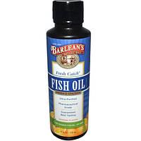Barleans, Свежий рыбий жир, омега-3 EPA/DHA кислоты, со вкусом апельсина, 8 жидких унций (236 мл)