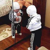 Спортивный костюм для мальчика Adidas бело-черный