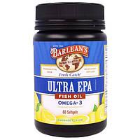 Barleans, Ultra EPA, Triple Potency Omega-3, Lemonade Flavor, 1000 mg, 60 Softgels
