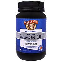 Barleans, Дикое и целостное, масло аляскинского лосося, 180 мягких таблеток
