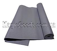 Коврик для йоги (йога мат) 4мм Серый