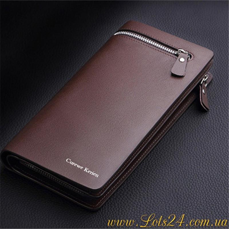 4ded024a185b Curewe Kerien - мужской кожаный клатч (портмоне, кошелек, бумажник,  коричневый)