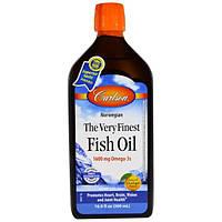 Carlson Labs, Наилучший рыбий жир, с натуральным апельсиновым вкусом, 16,9 жидкой унции (500 мл)