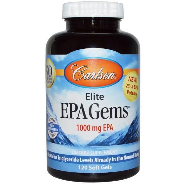 Carlson Labs, ЭПК концентрат рыбьего жира, 1000 мг, 120 капсул