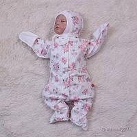 Комбинезон для новорожденных, Rose, белый