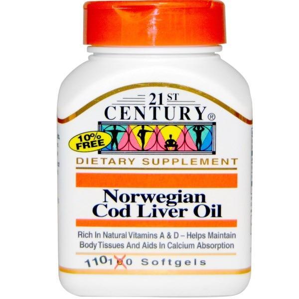 21st Century, Масло печени норвежской трески, 110 желатиновых капсул