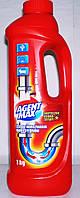 Чистящее средство Agent Max для труб гель 1л